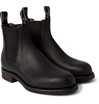 R.M.Williams Gardener Whole Cut Leather Chelsea Boots Black