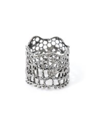 Aur Lie Bidermann Silver Plated Vintage Lace Ring