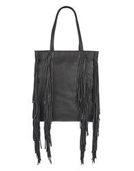 Kenneth Cole Prince Leather Tote Black