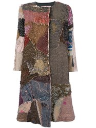 By Walid Hand Dyed Patchwork Coat