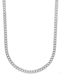 Macy's Men's Curb Chain Necklace In Sterling Silver