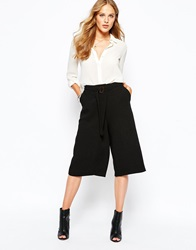 Suncoo Joshua Culottes With Wrap Detail Noir