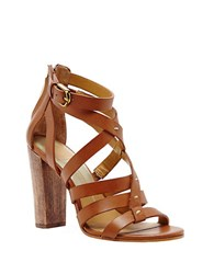 Dolce Vita Nolin Leather Strappy Open Toe Sandals Brown