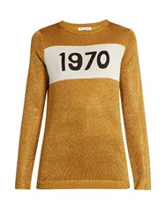 Bella Freud 1970 Sparkle Sweater Gold