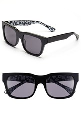Women's Isaac Mizrahi New York 53Mm Retro Sunglasses Black