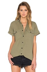 One Teaspoon Foxtail Button Up Olive