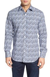Men's Bugatchi Classic Fit Chevron Print Sport Shirt