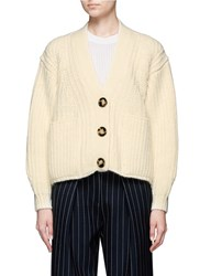 Acne Studios 'Hadlee' Chunky Knit Cardigan White