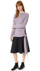 Marc Jacobs Side Tie Cashmere Sweater Lavender