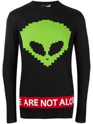 Love Moschino Alien Motif Jumper Black