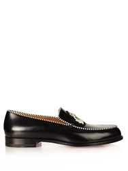 Christian Louboutin Laperouse Crest Leather Loafers Black