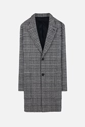 Ami Alexandre Mattiussi Tartan Plaid Effect Coat White