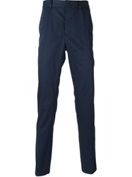 Lanvin Tapered Chino Trousers Blue