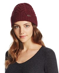Barbour Lambswool Cuffed Cable Beanie Tawny Port