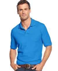 Club Room Big And Tall Performance Uv Protection Men's Polo Shirt Blue