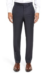 Ted Baker Men's London Jefferson Flat Front Check Wool Trousers Taupe