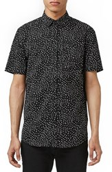 Men's Topman Slim Fit Short Sleeve Print Shirt