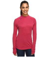 Smartwool Nts Mid 250 Isto Sport Raglan Top Berry Heather Women's Sweatshirt Pink