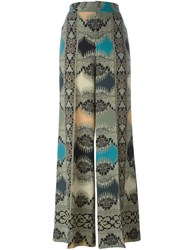 Etro Abstract Patterned Palazzo Pants Multicolour
