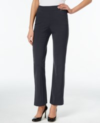 Jm Collection Curvy Fit Bootcut Pull On Pants Navy
