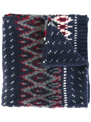 Woolrich Knitted Scarf Blue