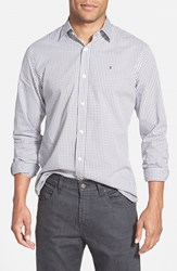 Men's Victorinox Swiss Army 'Hagen Gingham Check' Tailored Fit Sport Shirt Alloy