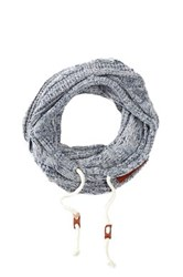Bickley Mitchell Snood Knit Hooded Scarf Blue