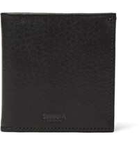 Shinola Bifold Grained Leather Wallet Black