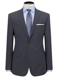 Daniel Hechter Puppytooth Tailored Fit Suit Jacket Airforce