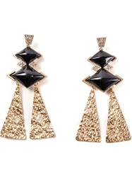Gerard Yosca Statement Earrings Metallic