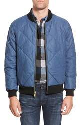 Eddie Bauer 'Skyliner Ilaria Urbinati Collection' Regular Fit Water Resistant Zip Front Quilted Bomber Dusted Indigo