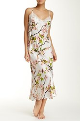 Natori Blossom Lace Gown Pink
