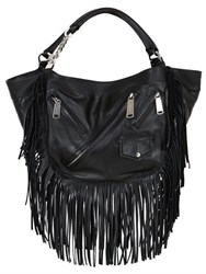 Dsquared Fringed Metallic Leather Bag