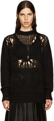 Givenchy Black Mohair Destroyed Sweater