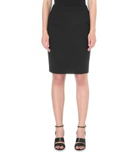 Reiss Dartmouth Wool Blend Pencil Skirt Black