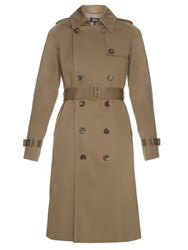 A.P.C. Barbara Cotton Gabardine Trench Coat Khaki