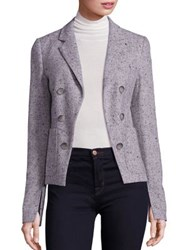 Theory Jontia Herringbone Blazer Light Grey Multi