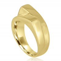 Marshelly's Jewelry Unisex Arc Span Ring18k Gold Plated Polish 7.5