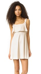 Susana Monaco Strap Back Mini Dress Blanced Almond