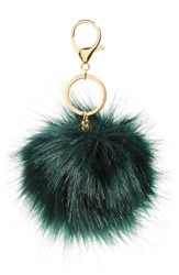 Women's Robert Rose Faux Fur Pompom Bag Charm Green Green Gold