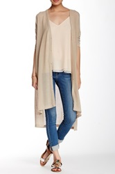 Hip Duster Hi Lo Cardigan Juniors Beige