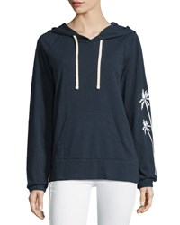 James Perse California Cotton Hoodie Sweatshirt Deep Nav