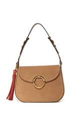 Tory Burch Tassel Large Shoulder Bag River Rock