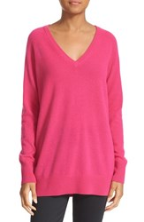 Equipment Women's 'Asher' V Neck Cashmere Sweater Cosmopolitan