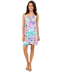 Lilly Pulitzer Blythe Dress Iris Blue Casa Azul Women's Dress Multi