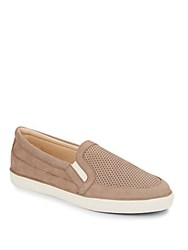 Nine West Buggaboo Suede Slip On Sneakers Taupe