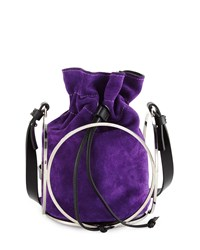 Cnc Costume National Suede Bucket Bag Purple Costume National