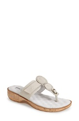 Softwalk 'Beaumont' Leather Thong Sandal Women Off White