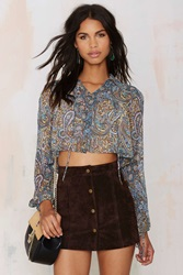 Nasty Gal After Party Vintage Avery Sheer Crop Top