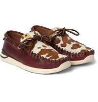 Visvim Yucca Calf Hair And Leather Deck Shoes